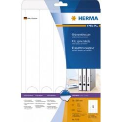 Rückenschilder PC 297x38mm Herma Spezialpapier blickdickt weiß Pckg.=125 St.