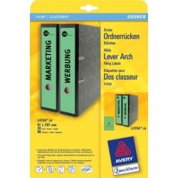Rückenschilder PC 297x61mm Zweckform 4754 grün Pck=60St.