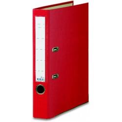 Ordner A4 50 mm breit Color PP Einsteckrückenschild rot