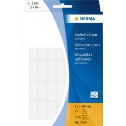 Etiketten Herma 2320 8x20 mm sk Spezialpapier weiß Pckg. á 2240 St.