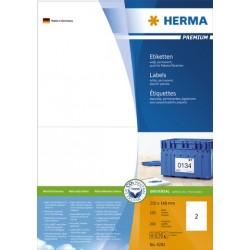 Etiketten Herma 4282 210x148mm A5 weiß Pckg.=200St.