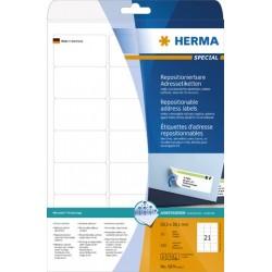 Etiketten ablösbar 63,5x38,1mm weiß Herma 5074 1 Pckg.=525 Stück