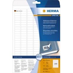 Etiketten ablösbar 25,4x10mm weiß Herma Pckg. á 4725St.