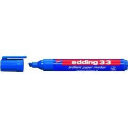 Pigmentmarker Edding 33 Keilspitze 1-5mm blau