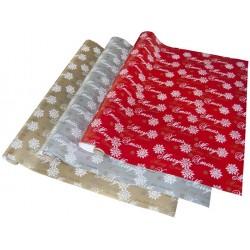 Geschenkpapier 2mx70cm Premium Frohe Weihnachten Silber 1 Rolle