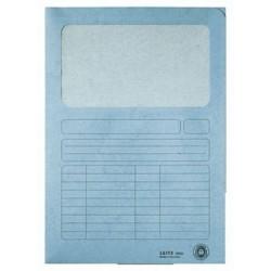Sichtmappe A4 Karton 160g Leitz 3950 Sichtfenster Pergamin blau 100 Stück