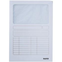 Sichtmappe A4 Karton 160g Leitz 3950 Sichtfenster Pergamin weiß 100 Stück