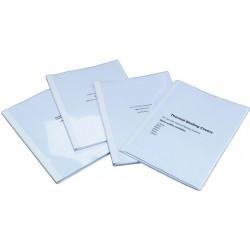 Thermobindemappe A4 1,5mm Karton transp. Deckel weiß 100St.