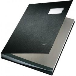 Unterschriftsmappe Leitz 5700 A4 20 Fächer PP-kaschiert schwarz