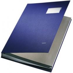 Unterschriftsmappe Leitz 5700 DIN A4 20 Fächer Plastik blau 1 Stück