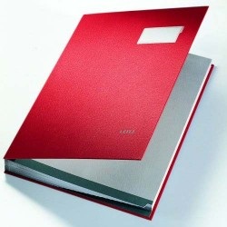 Unterschriftsmappe Leitz 5700 DIN A4 20 Fächer Plastik rot / 1 St.