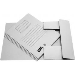 Einschlagmappe Aktenmappe Karton 250g/m² 3 Klappen A4 grau