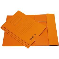 Einschlagmappe Aktenmappe Karton 250g/m² 3 Klappen A4 orange