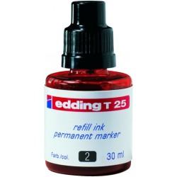 Nachfülltusche Edding T25 30 ml f. Permanentmarker rot 1 Fl.