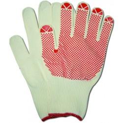 Handschuhe Schutzhandschuhe Polyflex Light m. Noppen Gr.9 weiß 3 Paar