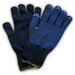 Handschuhe Schutzhandschuhe Polyflex Light m. Noppen Gr.9 blau