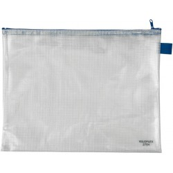Reißverschlusstasche PVC A4 355x270mm gewebeverstärkt 1 Stück