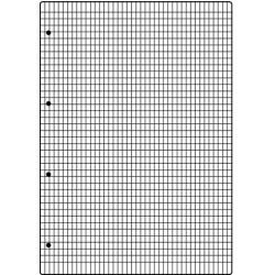 Ringbucheinlage A4 70g/m² hf weiß kariert 100 Blatt