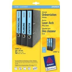 Rückenschilder PC Zweckform 4763 192x38 blau /Pckg. á 140 St.