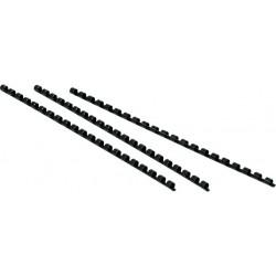 Binderücken Kunststoff 21 Ringe A4 Ø12mm schwarz VE=100St