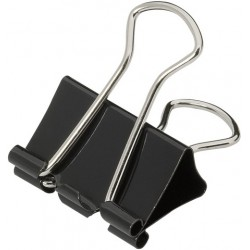 Klammer Foldback 25mm breit Klemmweite 9mm schwarz VE=12St.