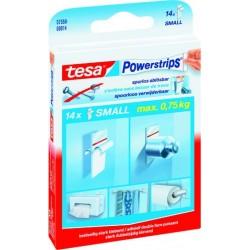 Doppelklebestück TESA Powerstrips® small sk ablösbar 15x35mm Pckg. á 14 St.