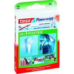Doppelklebestück TESA Powerstrips® Poster sk ablösbar 20x40mm Pckg. á 20 St.