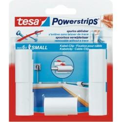 Kabelclip TESA Powerstrips® sk weiß 1 Schachtel á 5 St.