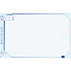 Schreibtafel Accents Linear Cool magnetisch 60x90cm blau inkl. Montagesatz Markerablage u. Boardmarker