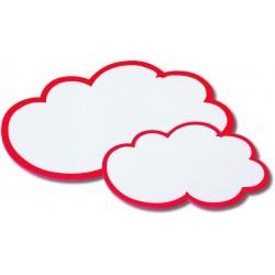 Moderationskarten Wolken 25x42cm 170g/m² weiß/rot Pckg.=20St.