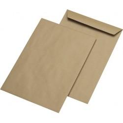 Versandtaschen B4 braun ohne Fenster NK gummiert (25 St)