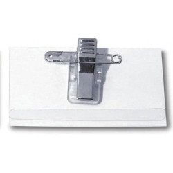Namensschild 90x54mm mit Clip + Nadel Kunststoff  (50 St.)