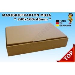 Maxibriefkartons Maxibrief 232x156x41 MB2A Farbe:BRAUN (100 Stk.)