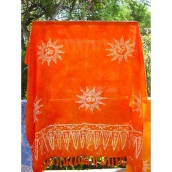 SARONG BEACH PAREO WICKELTUCH BALI * SONNE * ORANGE