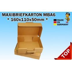 Maxibriefkartons Maxibrief 150x105x45 MBA6 Farbe BRAUN (100 Stk.) / DIN A6