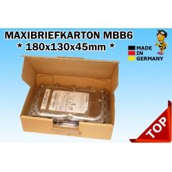 Maxibriefkartons Maxibrief 180x130x45 MBB6 Farbe:BRAUN (100 Stk.) / DIN B6