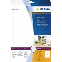 Etikett DVD-Hüllen I/L/K, Karton Herma 5037 weiß Packung á 25 Stück
