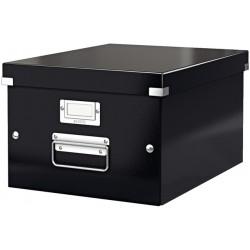 Archivbox A4 Click & Store Leitz mit Deckel 26,5x33,5x18,8cm Innenmaß schwarz