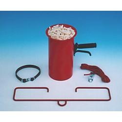 Abfülltrichter für Verpackungschips mit Zubehör zum Aufhängen (für Sackware)