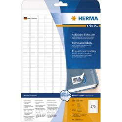 Etiketten ablösbar 17,8x10mm weiß Herma 10000   Pckg. á 6750 Stück