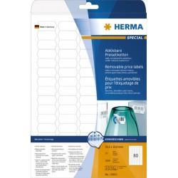 Etiketten ablösbar 35,6x16,9mm weiß Herma 10002   Pckg. á 2000 Stück