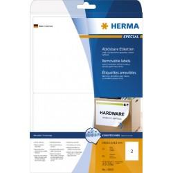 Etiketten ablösbar 199,6x43,5mm weiß Herma 10020  Pckg. á 50 Stück