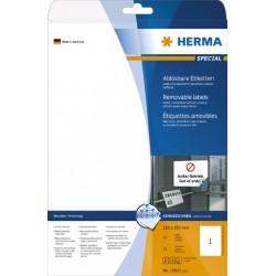 Etiketten ablösbar 210x297mm weiß Herma 10021  Pckg. á 25 Stück