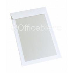 Papprückwandtaschen B4 hk haftklebend ohne Fenster weiss (100 Stück)