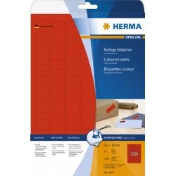 Etikett I/L/K sk 25,4x10mm rot Herma 4244 PG=3780 Stück Etiketten auf A4 Bogen