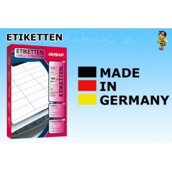 Heisap - Selbstklebende Etiketten 63,5x46,6mm (1800 Stück auf 100 Blatt A4) 1 Päckchen