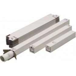 Versandhülsen A2 Karton Steckverschluss L: 500mm weiß  (20 Stück)