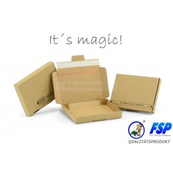 Kartons: 100 Stk. braune Maxibriefkartons Packbiene®Magic 215x155x30mm (PB1-M)