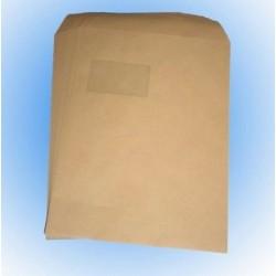 Versandtaschen Briefumschläge C4 mit Fenster sk BRAUN (250 Stück)
