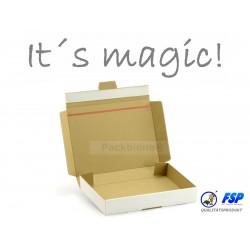 Kartons: 100 Stk. weiße Maxibriefkartons Packbiene®Magic 215x155x46mm (MB2AW-M)